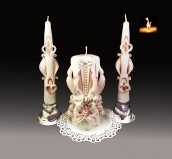 Unity candles set, REd and White