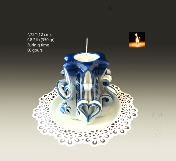 Blue Small Candle 1