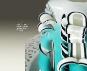 White, Turquoise, Bkack