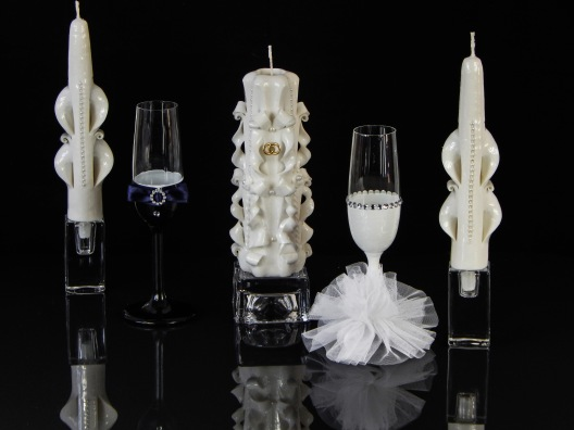 White with glass Set 1
