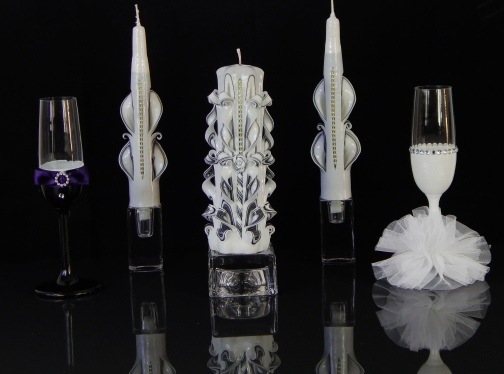 Black and White with glass Set 1