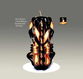 Black Candle Flame 1